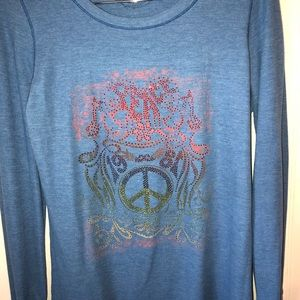 Tops - Peace bling thermal long sleeve top